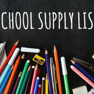 2021-2022 School Supply Lists